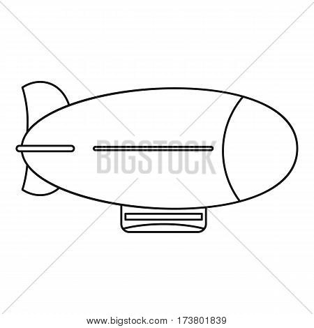 Vintage airship icon. Outline illustration of vintage airship vector icon for web