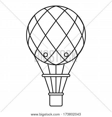 Retro helium air balloon icon. Outline illustration of retro helium air balloon vector icon for web