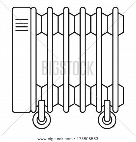 Electric oil heater icon. Outline illustration of electric oil heater vector icon for web