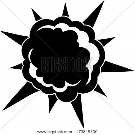 Powerful explosion icon. Simple illustration of powerful explosion vector icon for web