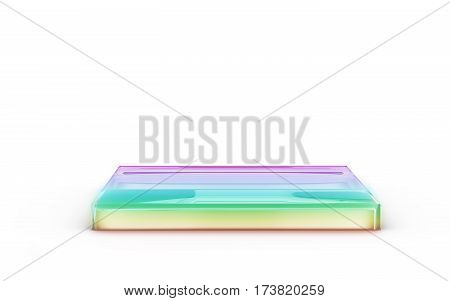 Color Square Of Glass Stand For Products Display