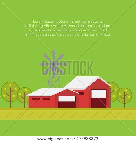 Organic products. Agriculture and Farming. Agribusiness Rural landscape. Organic products vector