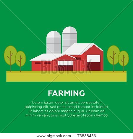 Organic products. Agriculture and Farming. Organic products vector