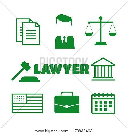 Lawyer concept. Lawyer sign and symbol. Lawyer vector