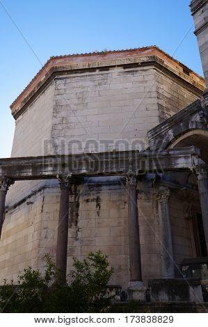 Palace of the Roman Emperor Diocletianus in the Unesco heritage city of Split, Croatia