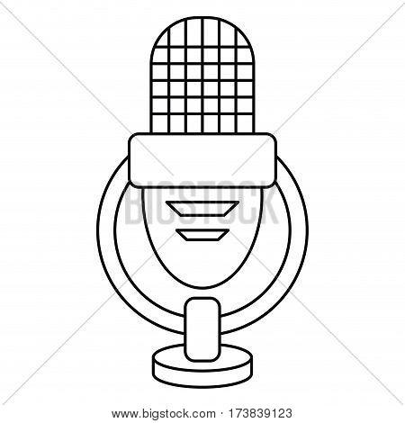 retro microphone voice thin line vector illustration eps 10