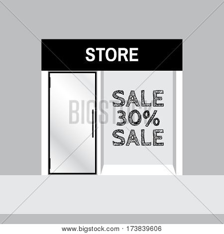 Shop front or store view vector illustration. Shop front vector