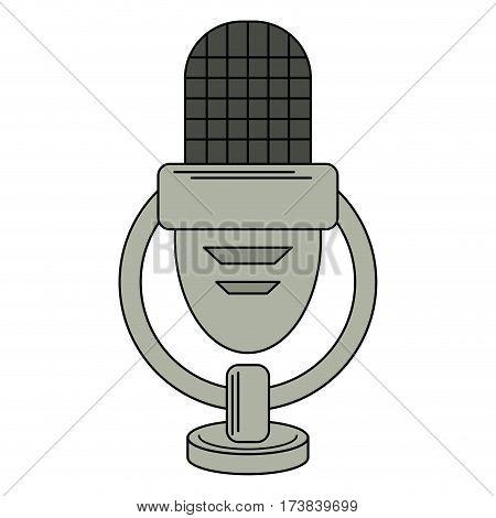 retro microphone voice icon vector illustration eps 10
