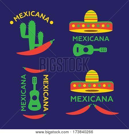 Hot Mexicano Chili Pepper Logo template. Mexican Fast food logotype template. Hot Mexicano vector