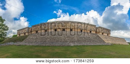The Governor's Palace In An Ancient Maya City Of Uxmal, Yucatan, Mexico