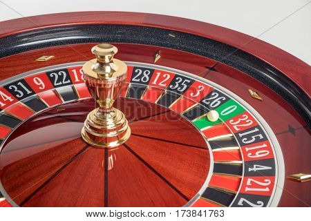 Big luck when Casino Roulette Wheel stopped at zero