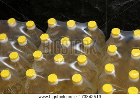 Cooking Oil In Plastic Container