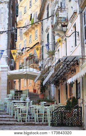 An urban scenic of Corfu island, Greece