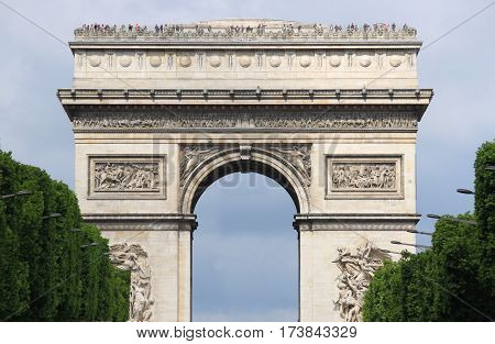The Arch of Triumph in Paris, France