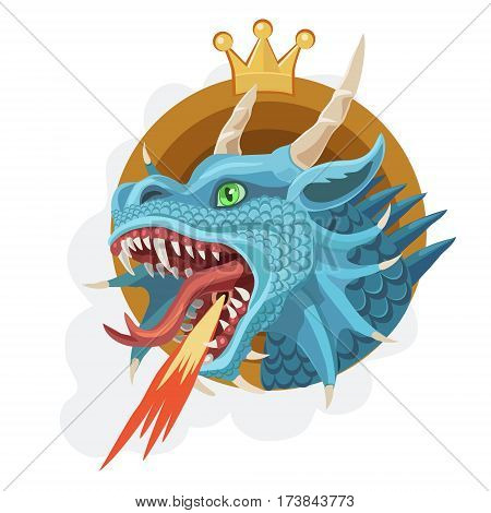 The king of dragons breathing fire, is a force of power, the will, the spirit of wisdom and correct decision of problems