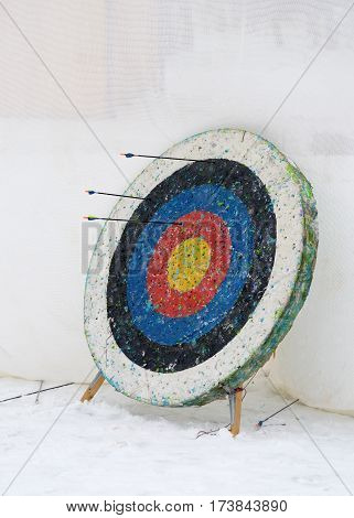 Round target used in the sport of archery.