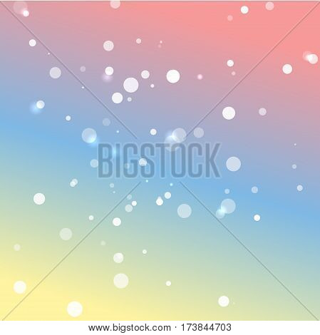Romantic pastel colors vector background with white lights