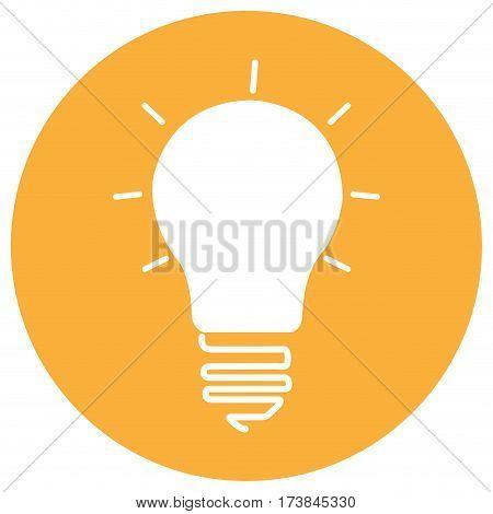 Isolated lightbulb silhouette on a sticker, Vector illustration