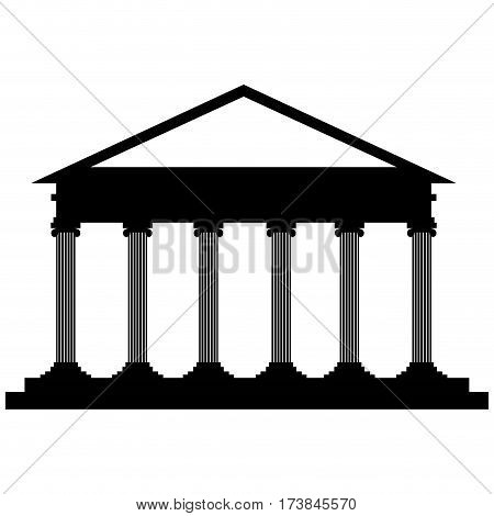 Isolated courthouse icon on a white background, Vector illustration
