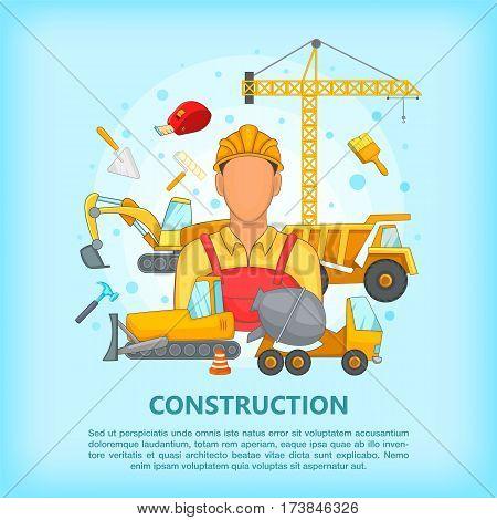 Building process concept erector. Cartoon illustration of building process vector concept for web