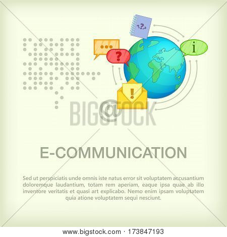Call center concept globe. Cartoon illustration of call center vector concept for web