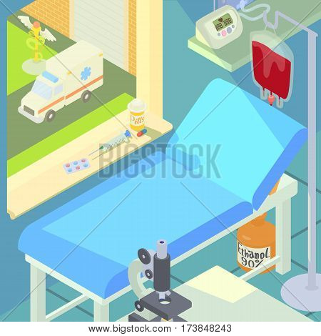 Hospital medical chamber concept. Cartoon illustration of hospital medical chamber vector concept for web