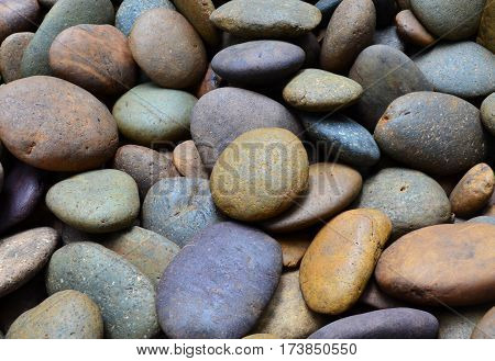 Brown pebble stone for background and texture