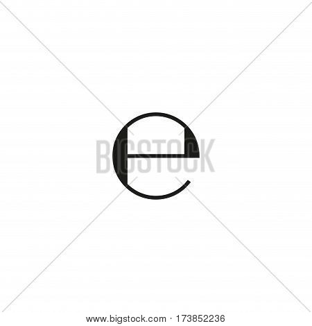 European weight symbol isolated on white background vector illustration. Estimated sign indicates that packaging filled according to European directive. E-mark black packaging pictogram