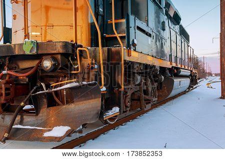 Winter snow locomotive Steam locomotive running abstract, america, antique
