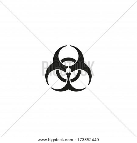 Biological risk symbol isolated on white background vector illustration. Biohazard, harmful substances particularly dangerous for living beings sign. International standard black packaging pictogram. Biological risk icon. Vector biohazard icon.