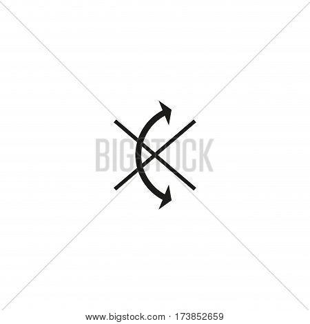 Do not roll symbol isolated on white background vector illustration. Delivery label protect sensitive parcels against incorrect transportation. International standard black shipping pictogram