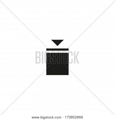 Stacking weight limitation symbol isolated on white background vector illustration. Indicates maximum stacking load for packages. International standard black shipping pictogram