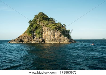 Hin Khao Pinnacle. Near Bara Estuary And Lipe Island Very Beautiful Attraction, Stun Provience, Thai