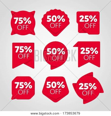 Special offer sale tag set isolated vector illustration. Discount offer price label, symbol for advertising retail campaign, sale promo marketing, price off discount sticker, ad offer on shopping day. Sale tag collection. Modern sale sticker. Discount sal