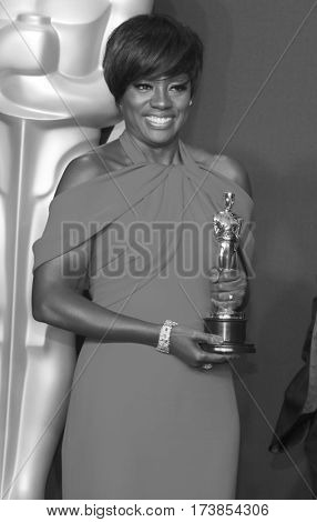 Viola Davis at the 89th Annual Academy Awards - Press Room held at the Hollywood and Highland Center in Hollywood, USA on February 26, 2017.