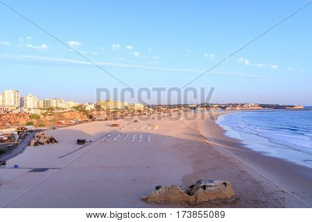 A view of Praia da Rocha on the Algarve Portugal