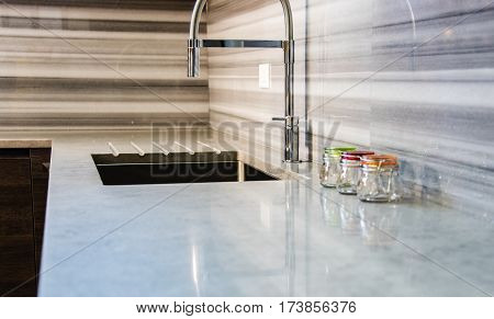 modern kitchen breakfast worktop. granite worktop. marble worktop. bar worktop.
