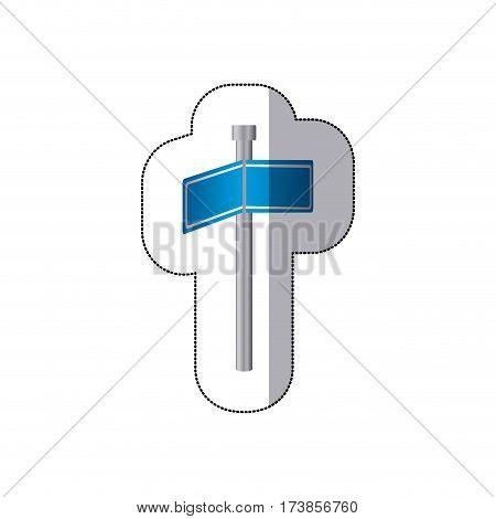 blue signal metal board, vector illustraction design image