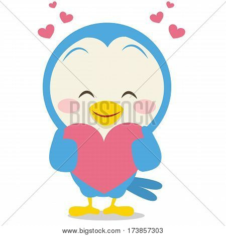 Dove with love character vector collection stock