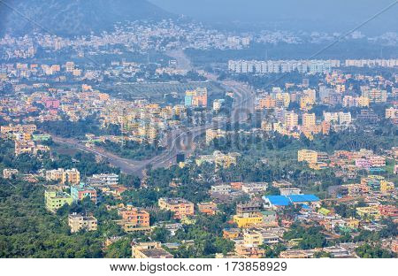 Visakhapatnam, INDIA - December 9 : Visakhapatnam's economy ranks as the tenth-largest among Indian cities, with a GDP of $26 Billion. On December 9,2015 Visakhapatnam, India