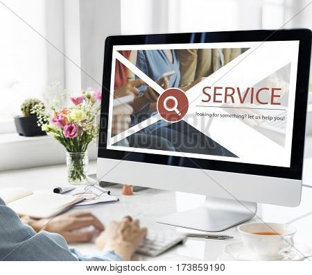 Support Service Contact Us Information Concept