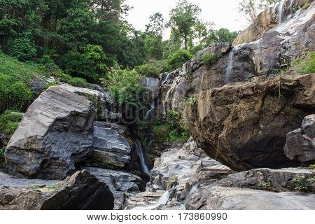 Mae Klang beauty Waterfall in Chiang Mai Province, Doi Inthanon Thailand