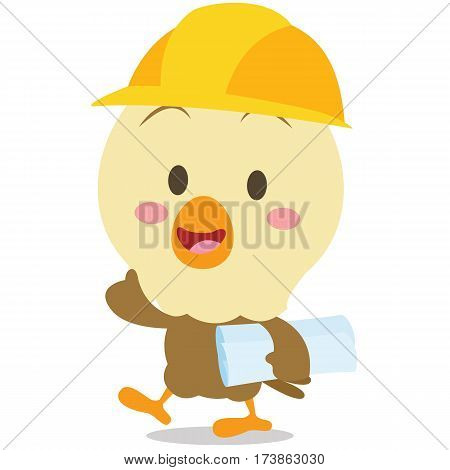 Architect eagle character vector art collection stock