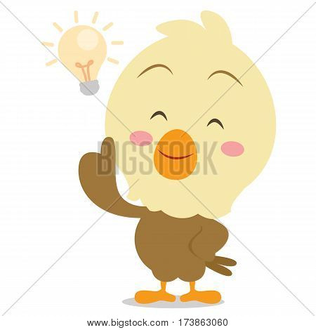 Eagle with idea character vector illustration collection stock
