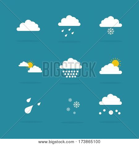 Illustration of weather set icon collection stock