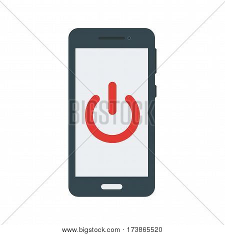 Phone, mode, off icon vector image. Can also be used for smartphone. Suitable for mobile apps, web apps and print media.