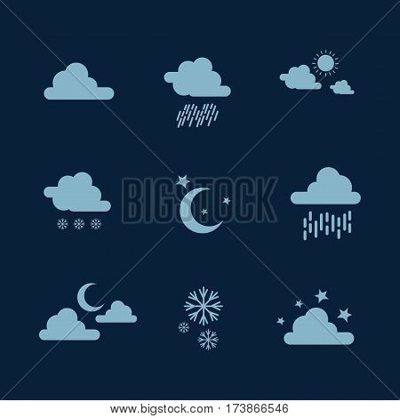 Weather set icon illustration vector collection stock