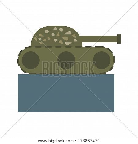 Tank, military, museum icon vector image. Can also be used for museum. Suitable for mobile apps, web apps and print media.