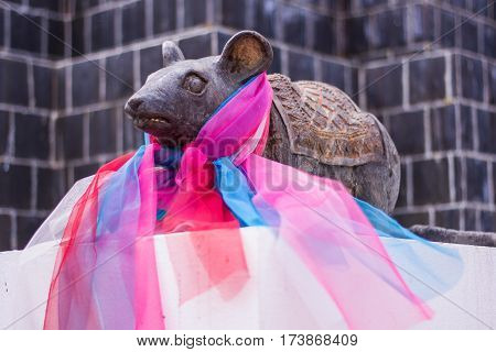 mouse statue in Thai temple , art