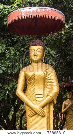 Thai golden statue , art for religion